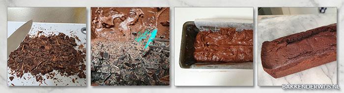 Dubbele chocoladecake stap voor stap recept