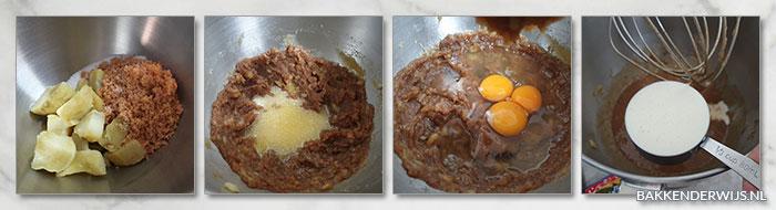 Zoete aardappeltaart stap voor stap