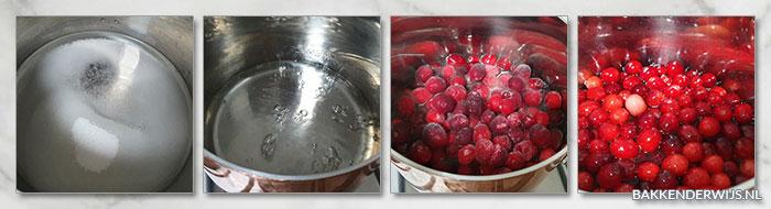 Gesuikerde cranberries stap voor stap recept