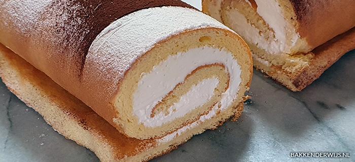 Cakerol met slagroom recept