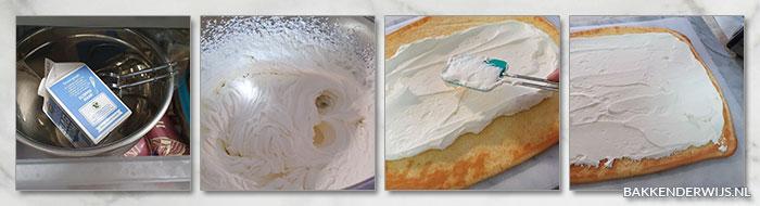 Cakerol met slagroom stap voor stap recept