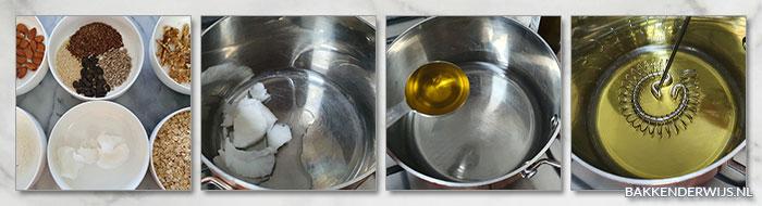 Granola stap voor stap recept