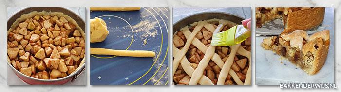 Vegan appeltaart stap voor stap