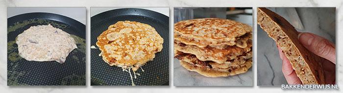 Chocolade krispies pancakes stap voor stap recept