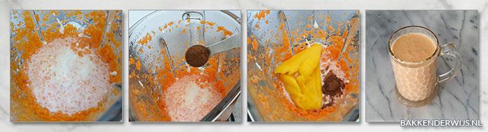 Wortel mango smoothie stap voor stap recept