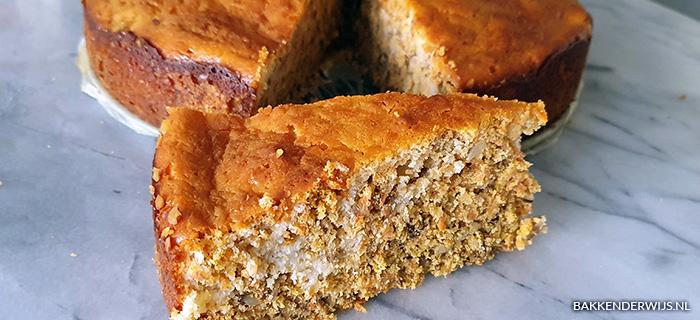 Worteltjes walnoten taart recept