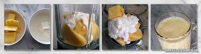 Ananas yoghurt smoothie stap voor stap