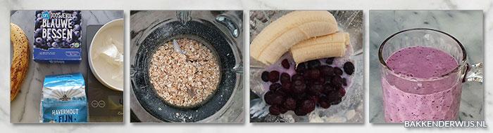 Blauwe bessen smoothie stap voor stap recept