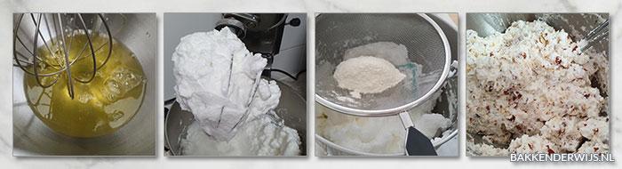Hazelnootschuimtaart stap voor stap recept